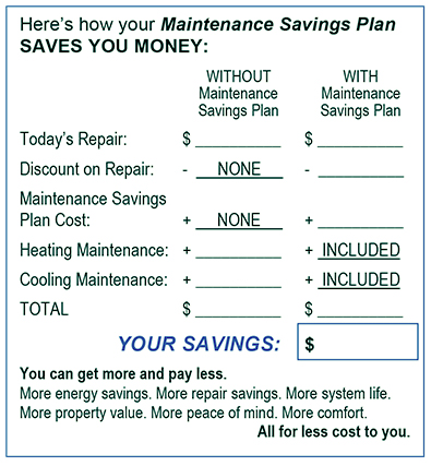 Comfort Club Maintenance Savings Plan